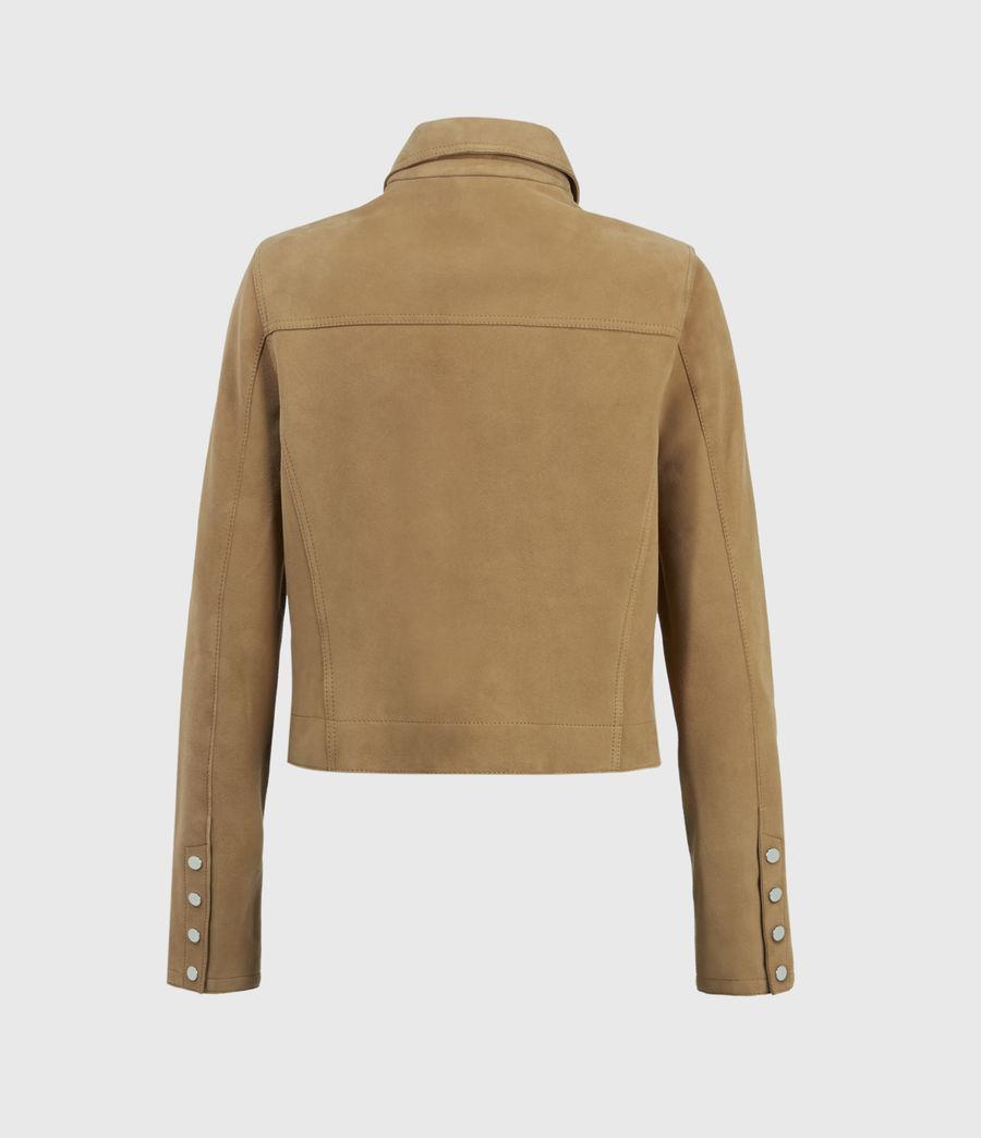 Womens Zaria Suede Jacket (tan_brown) - Image 2