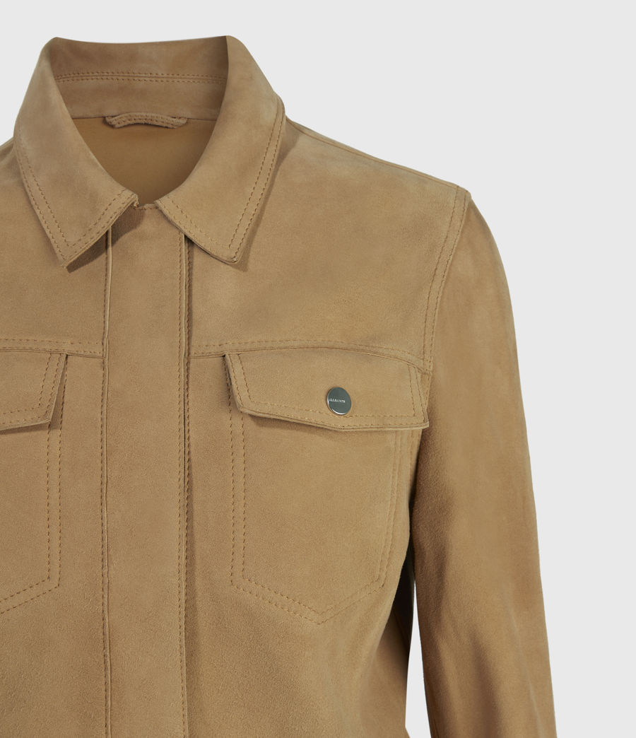 Women's Zaria Suede Jacket (tan_brown) - Image 3