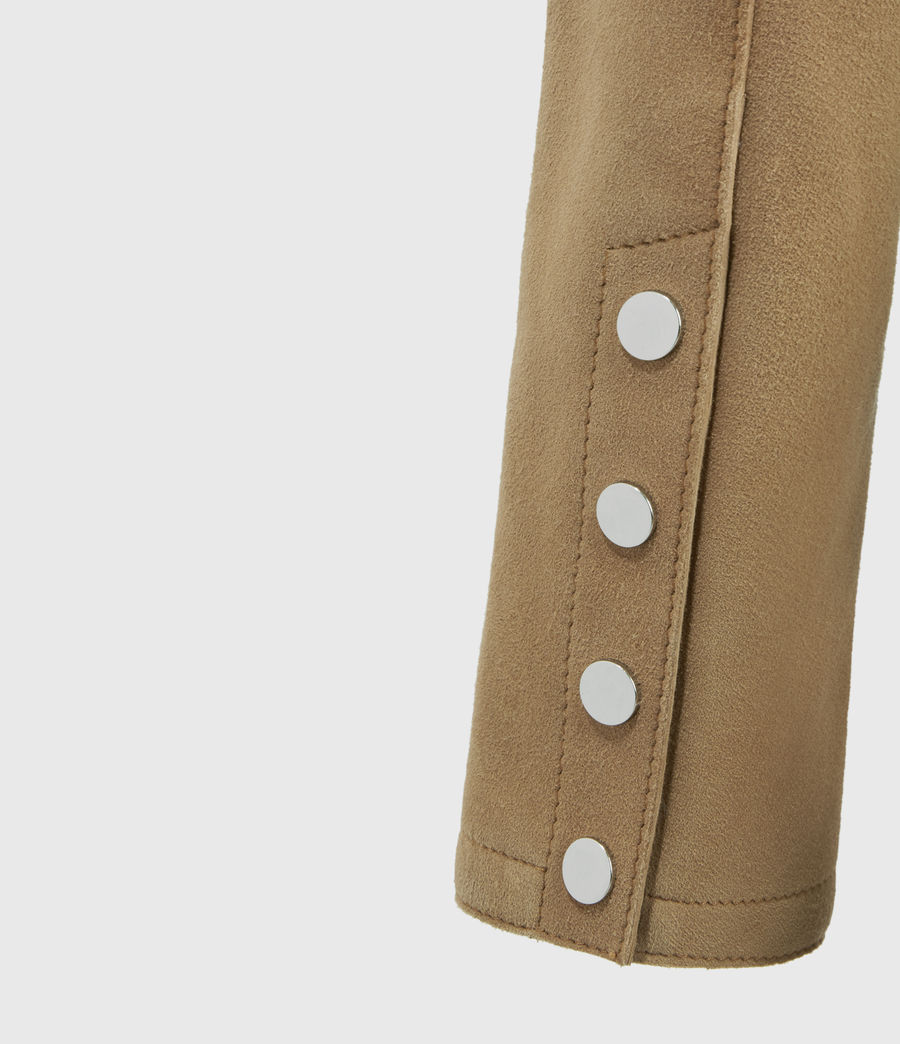 Women's Zaria Suede Jacket (tan_brown) - Image 4