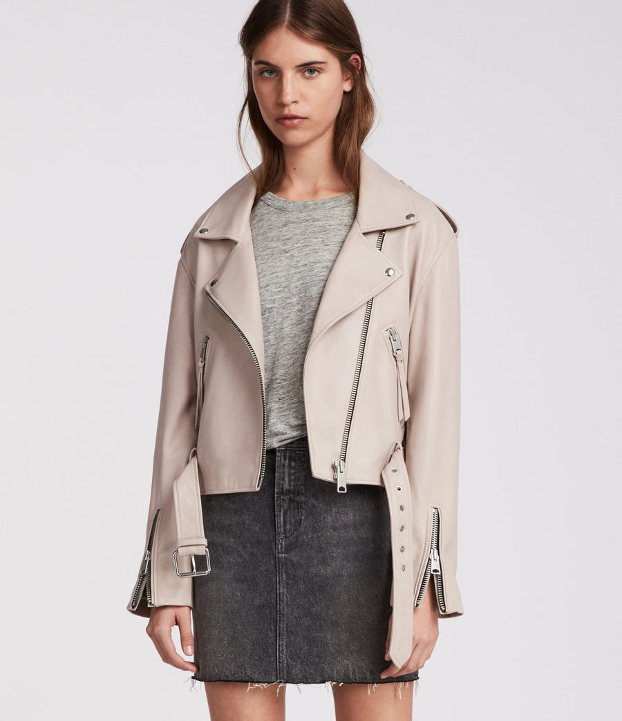 Damen Anderson Biker Jacket (washed_pink) - Image 1