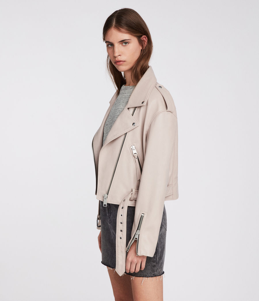 Damen Anderson Biker Jacket (washed_pink) - Image 2