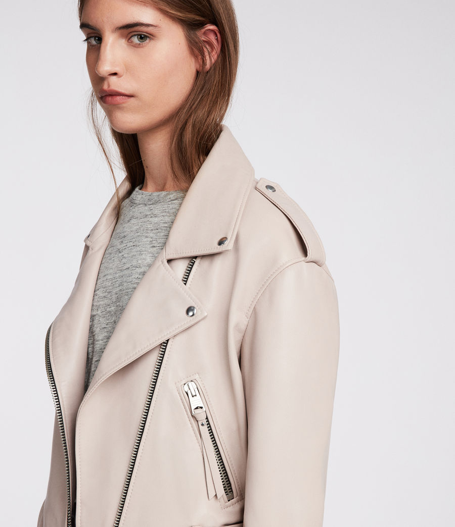 Damen Anderson Biker Jacket (washed_pink) - Image 3