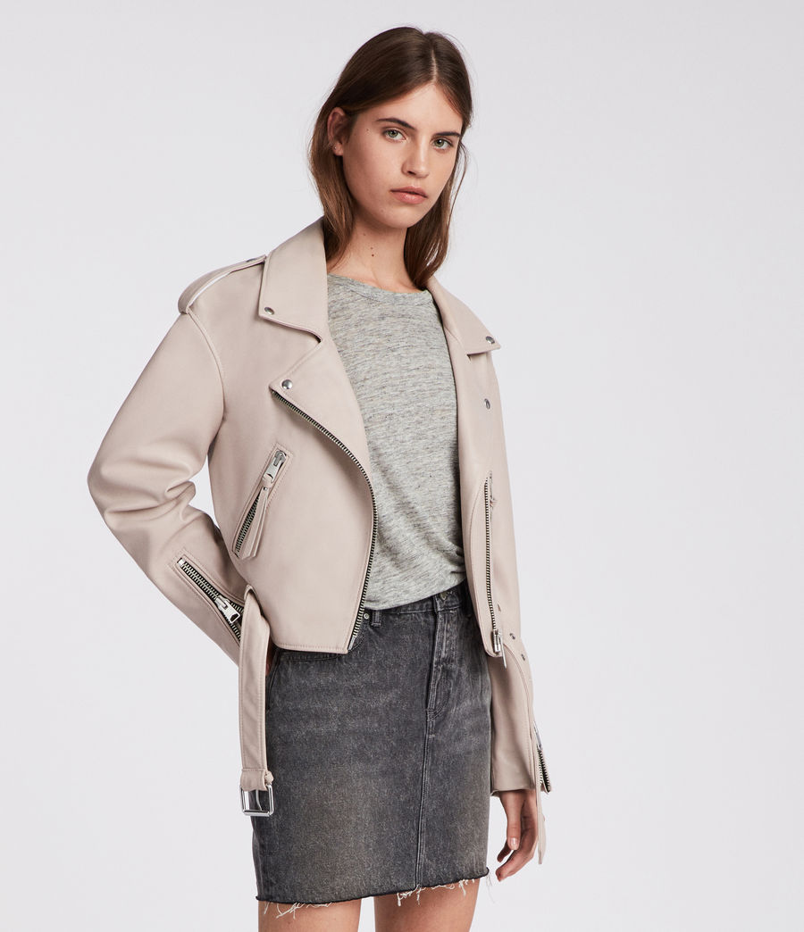 Damen Anderson Biker Jacket (washed_pink) - Image 4