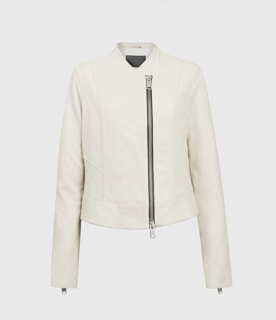 Women's Jae Leather Blazer (white) - Image 1