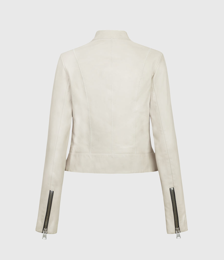 Women's Jae Leather Blazer (white) - Image 2