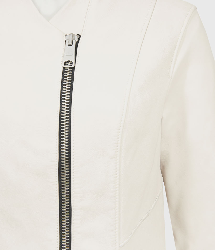 Women's Jae Leather Blazer (white) - Image 3