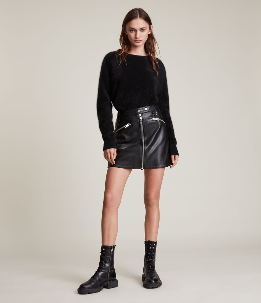Women's Tarren Biker Skirt (black) - Image 1