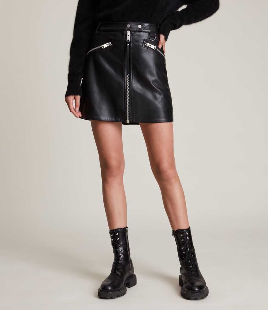 Women's Tarren Biker Skirt (black) - Image 2
