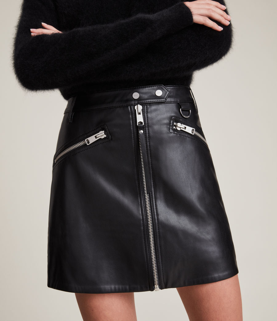 Women's Tarren Biker Skirt (black) - Image 3