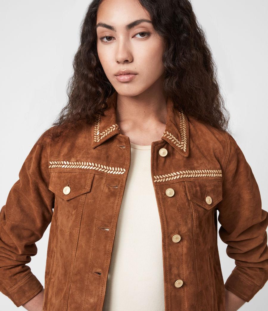 Damen Delvy Suede Trucker Jacket (washed_sand_brown) - Image 4