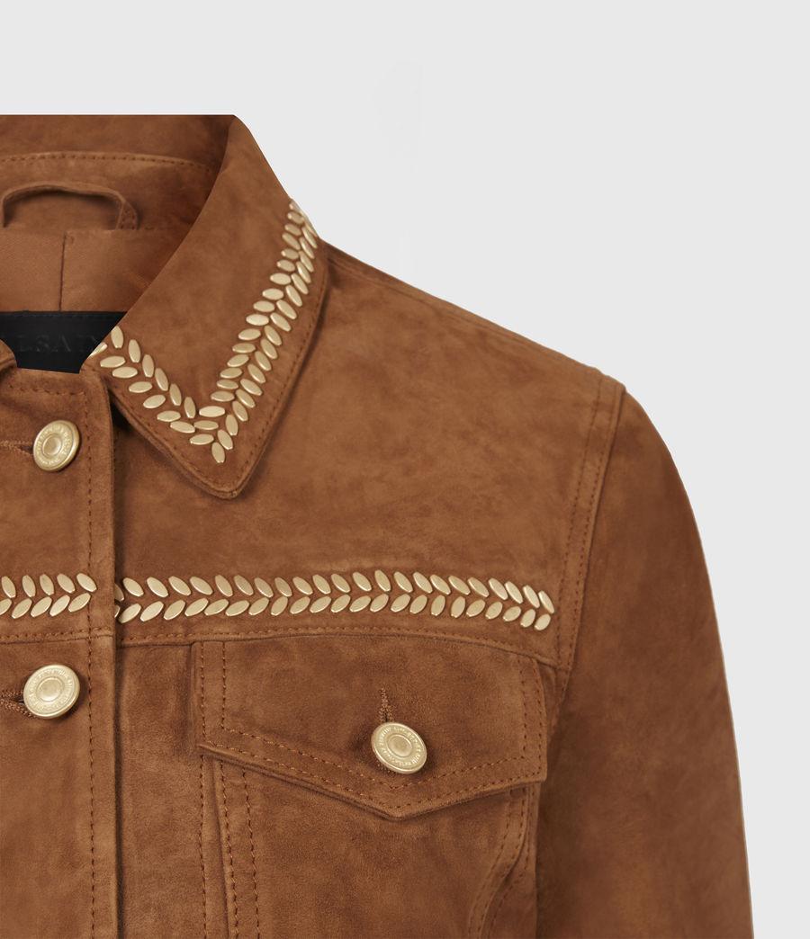 Damen Delvy Suede Trucker Jacket (washed_sand_brown) - Image 5