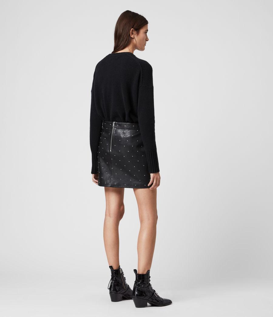 Women's Lyra Leather Star Skirt (black) - Image 5