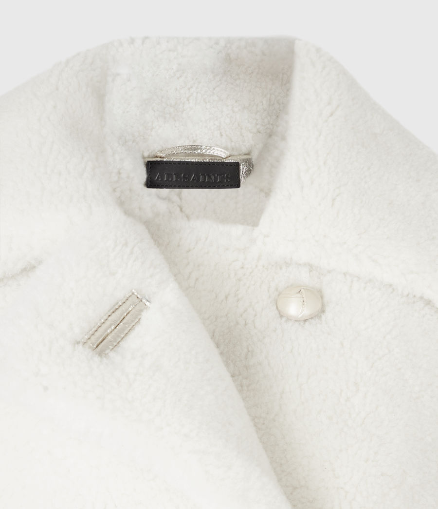 Women's Farley Metallic Shearling Jacket (bright_gold) - Image 5