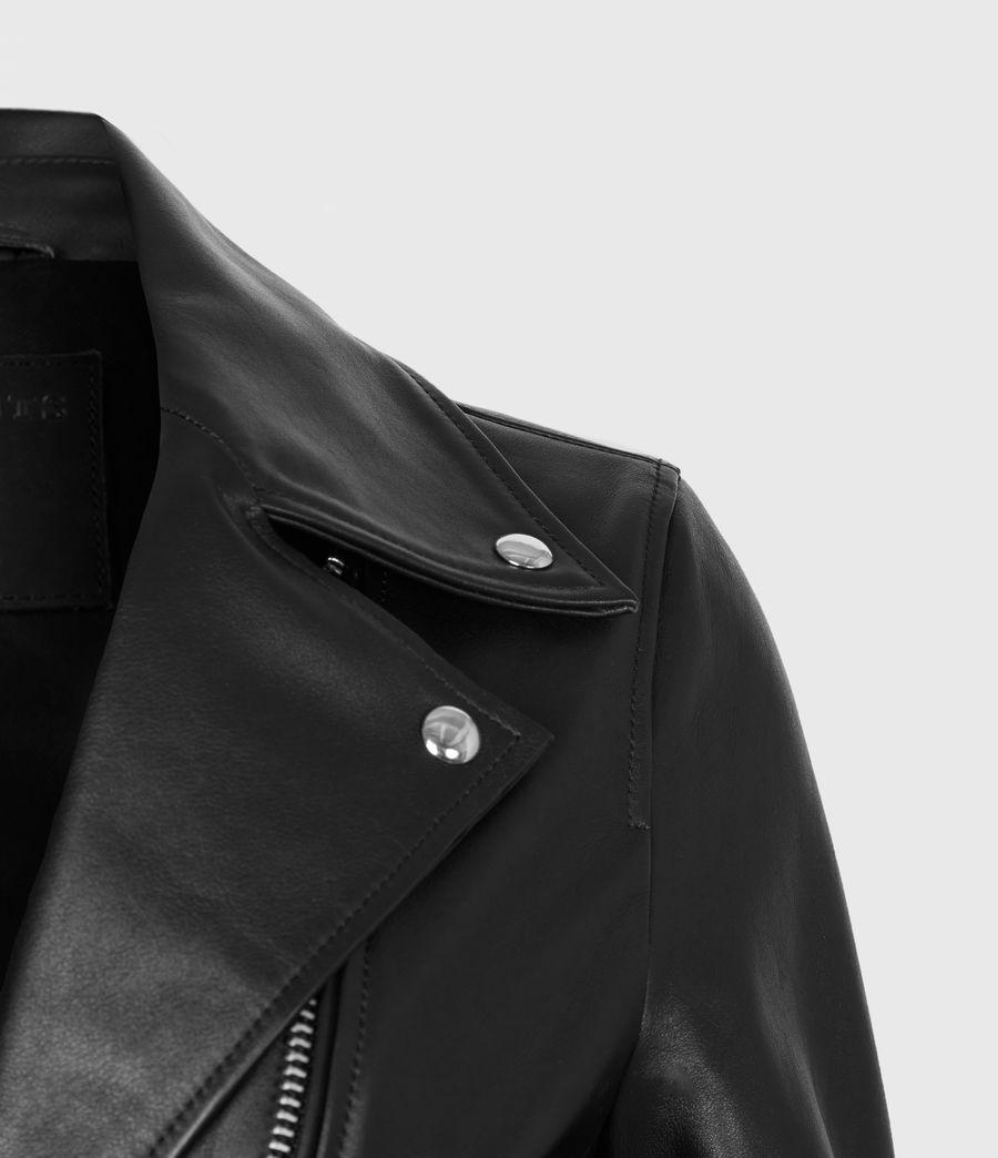 Women's Suki Leather Biker Jacket (black) - Image 5