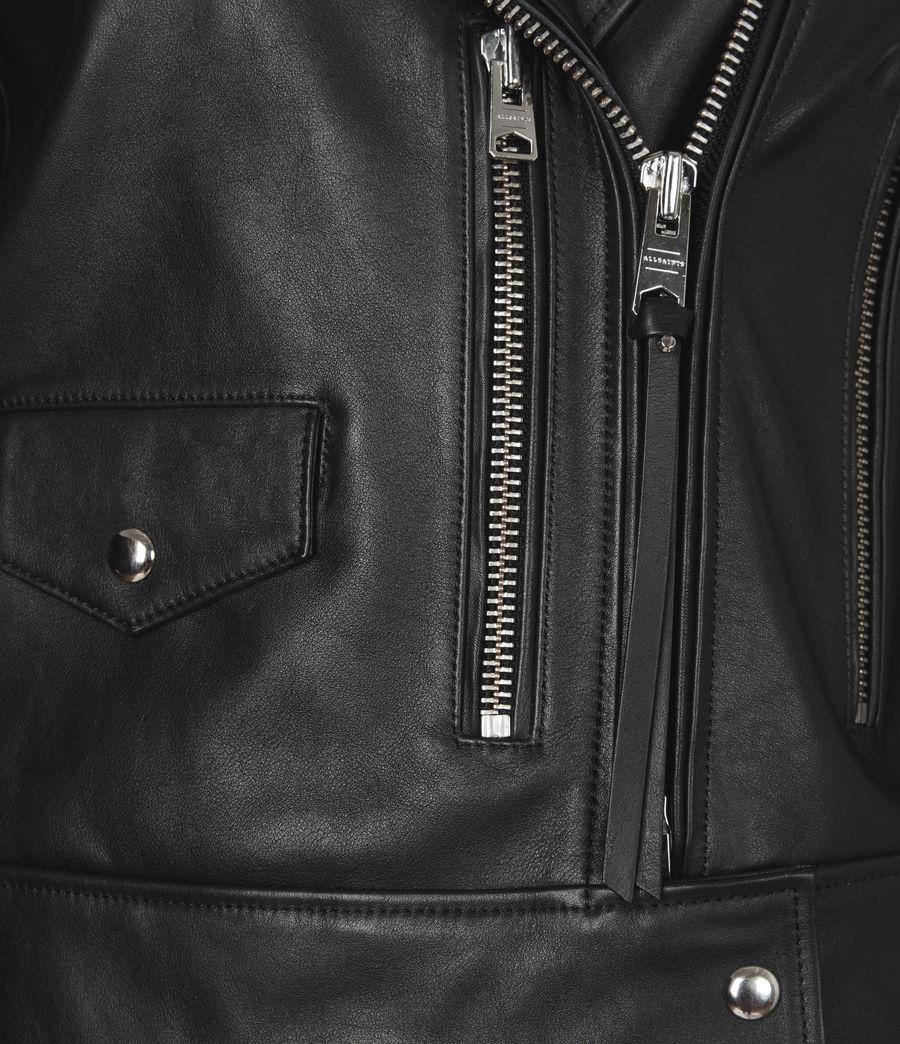 Women's Suki Leather Biker Jacket (black) - Image 6