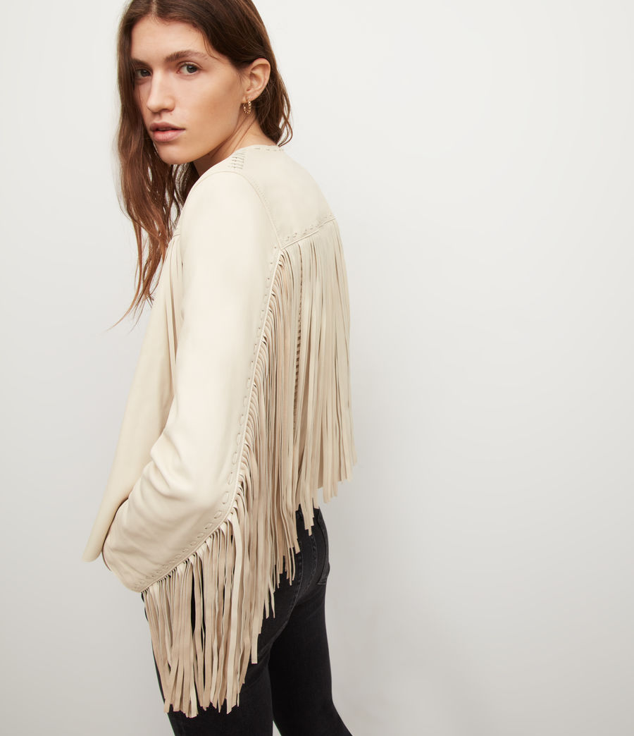 Women's Astral Leather Tassel Jacket (off_white) - Image 2