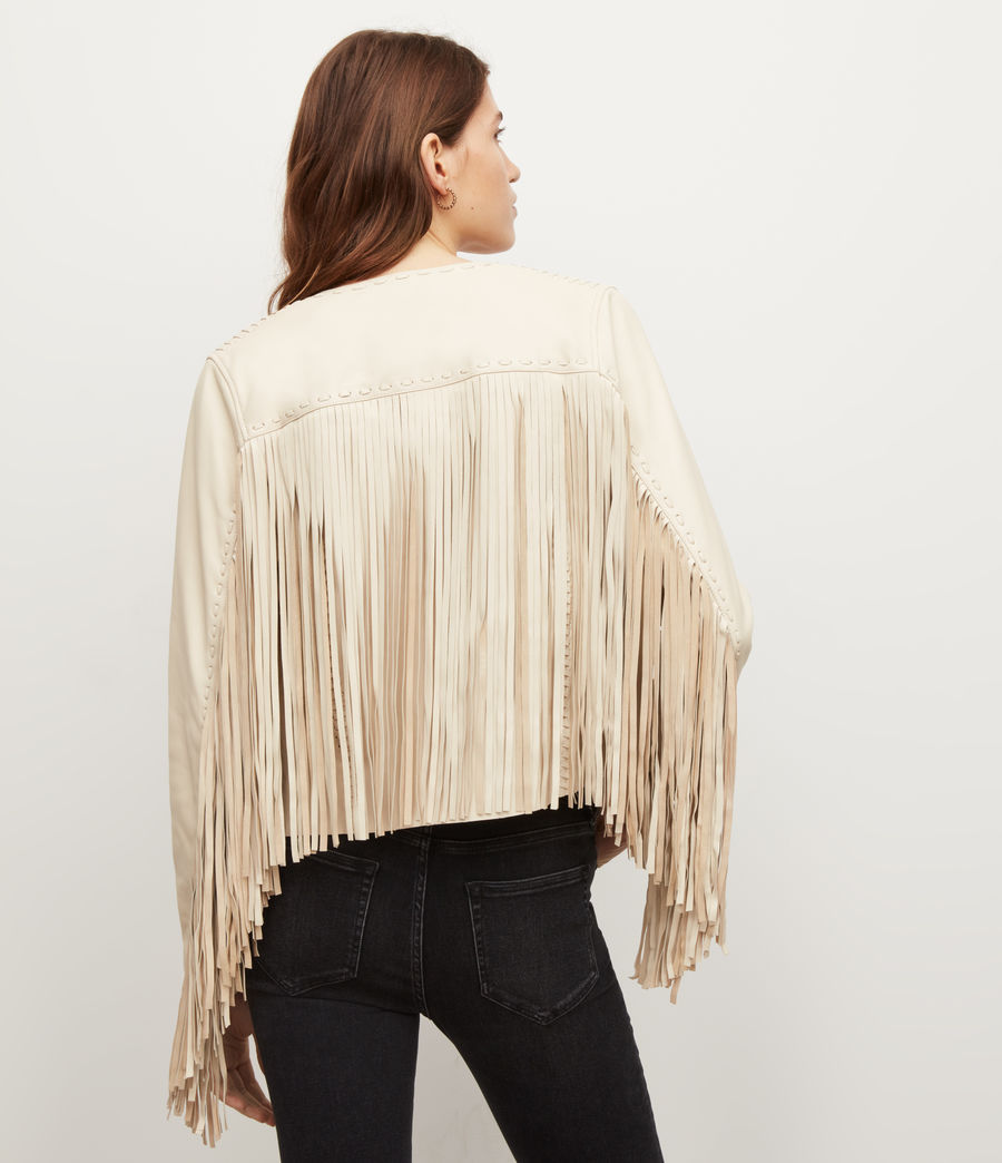 Women's Astral Leather Tassel Jacket (off_white) - Image 6