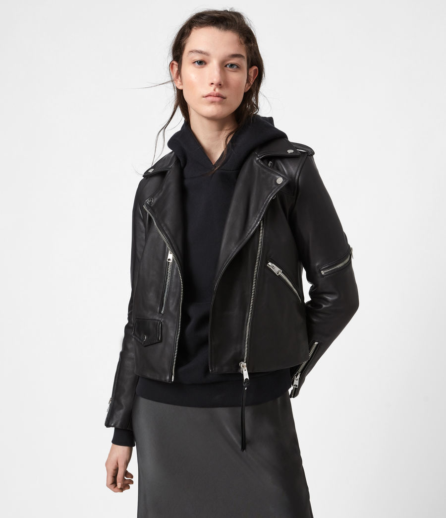 Damen Darnley Bikerjacke (black) - Image 1