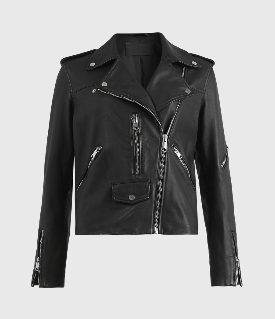 Damen Darnley Bikerjacke (black) - Image 2