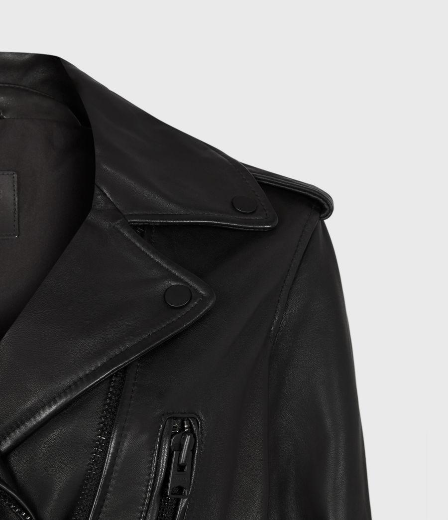 Damen Lindell Leather Biker Jacket (black) - Image 5