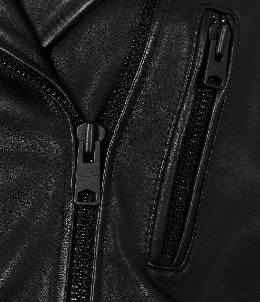 Damen Lindell Leather Biker Jacket (black) - Image 6
