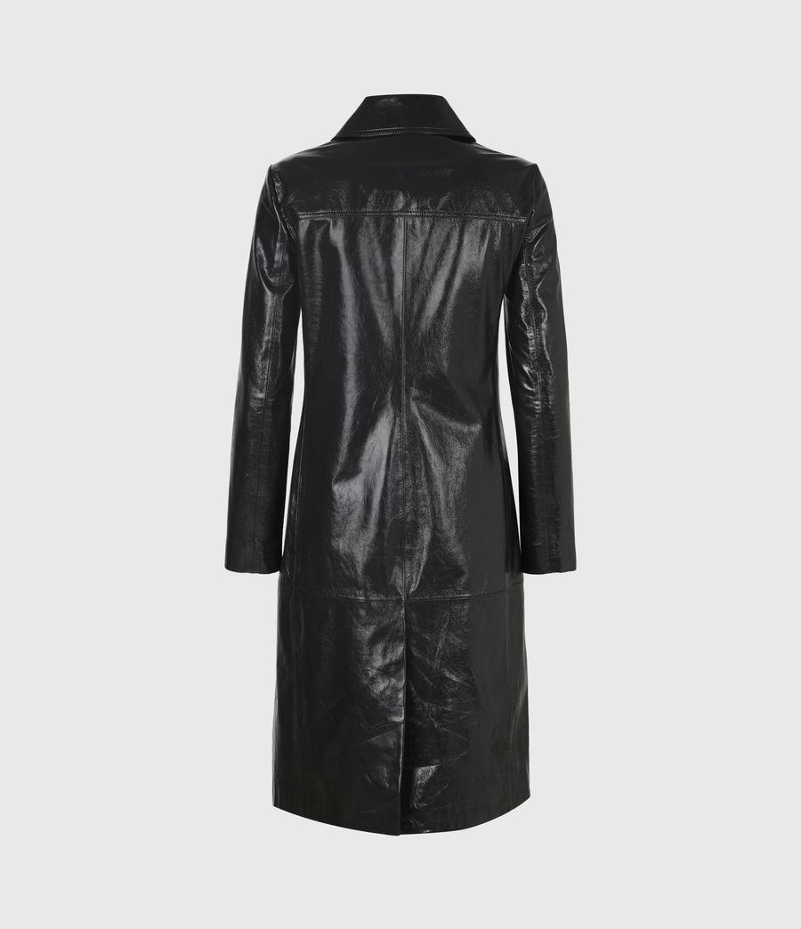 Women's Carine Leather Coat (black) - Image 3