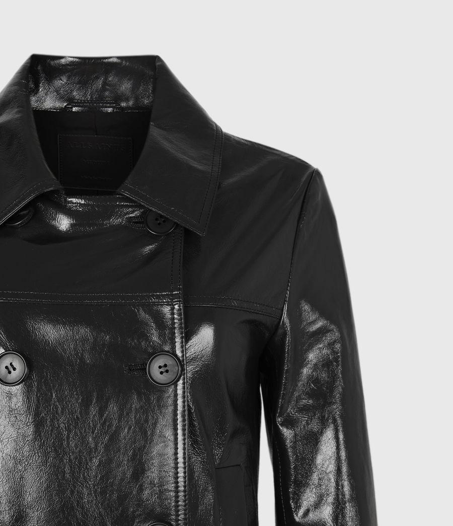 Women's Carine Leather Coat (black) - Image 5