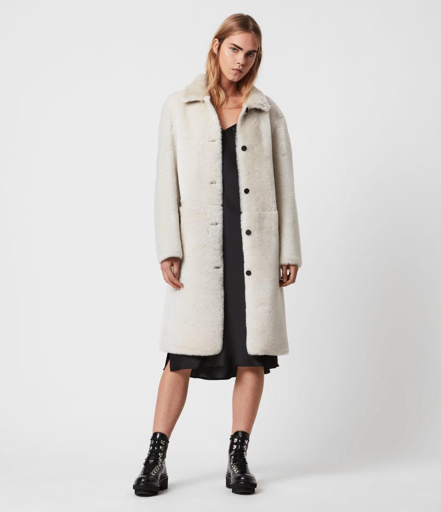 Women's Serra Shearling Coat (off_white) - Image 1
