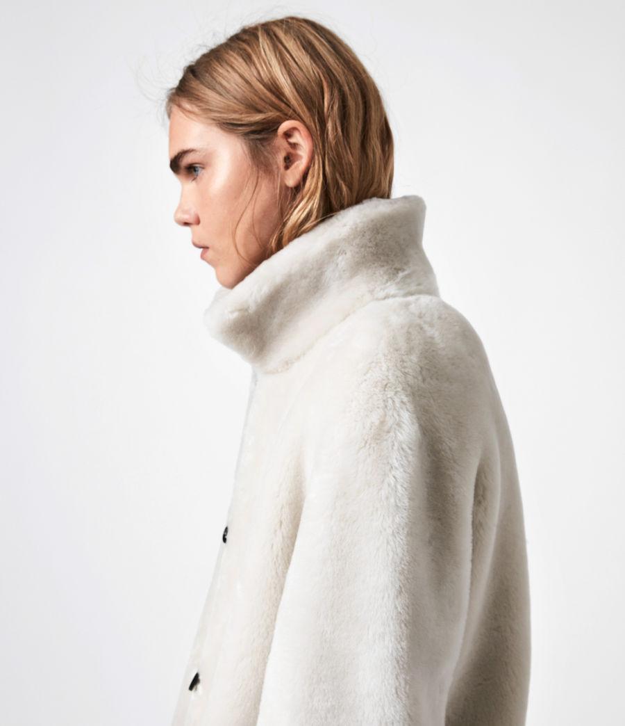 Women's Serra Shearling Coat (off_white) - Image 10
