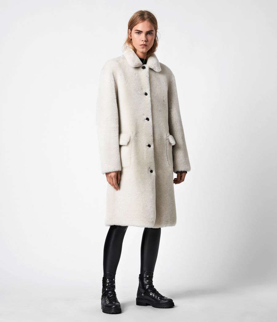 Women's Serra Shearling Coat (off_white) - Image 11
