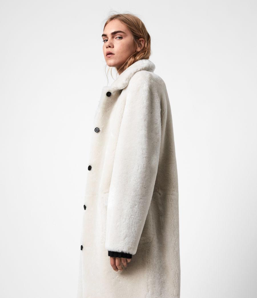 Women's Serra Shearling Coat (off_white) - Image 2