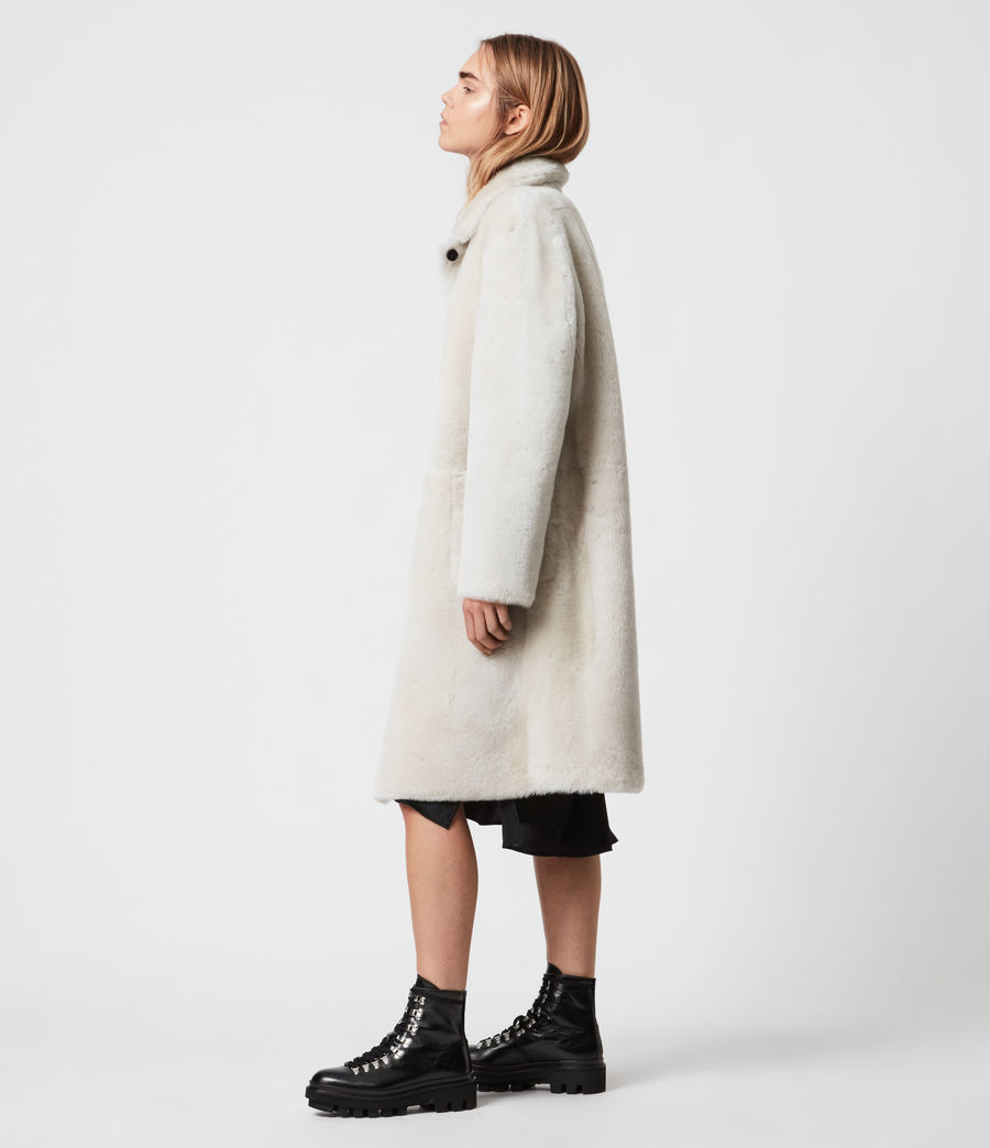 Women's Serra Shearling Coat (off_white) - Image 3