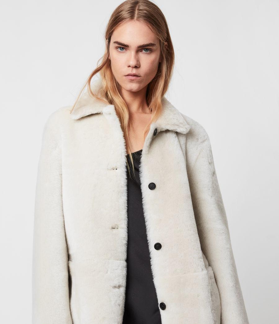 Women's Serra Shearling Coat (off_white) - Image 4
