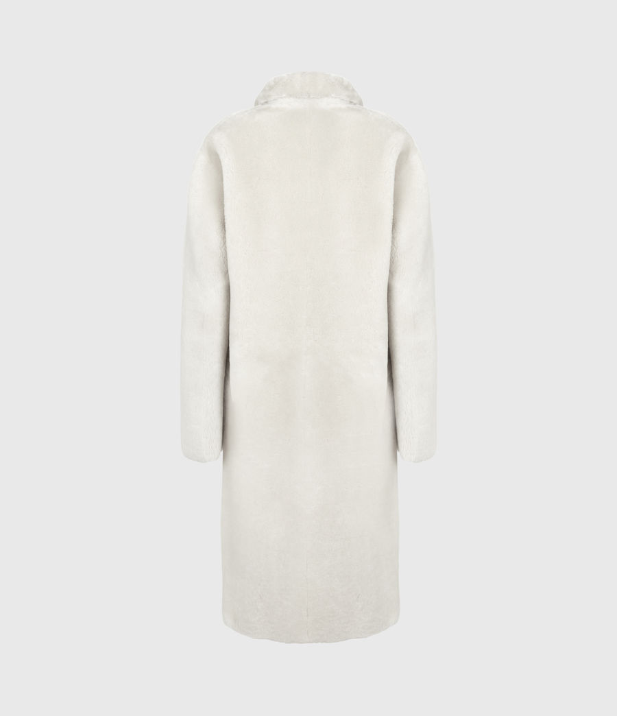 Women's Serra Shearling Coat (off_white) - Image 6