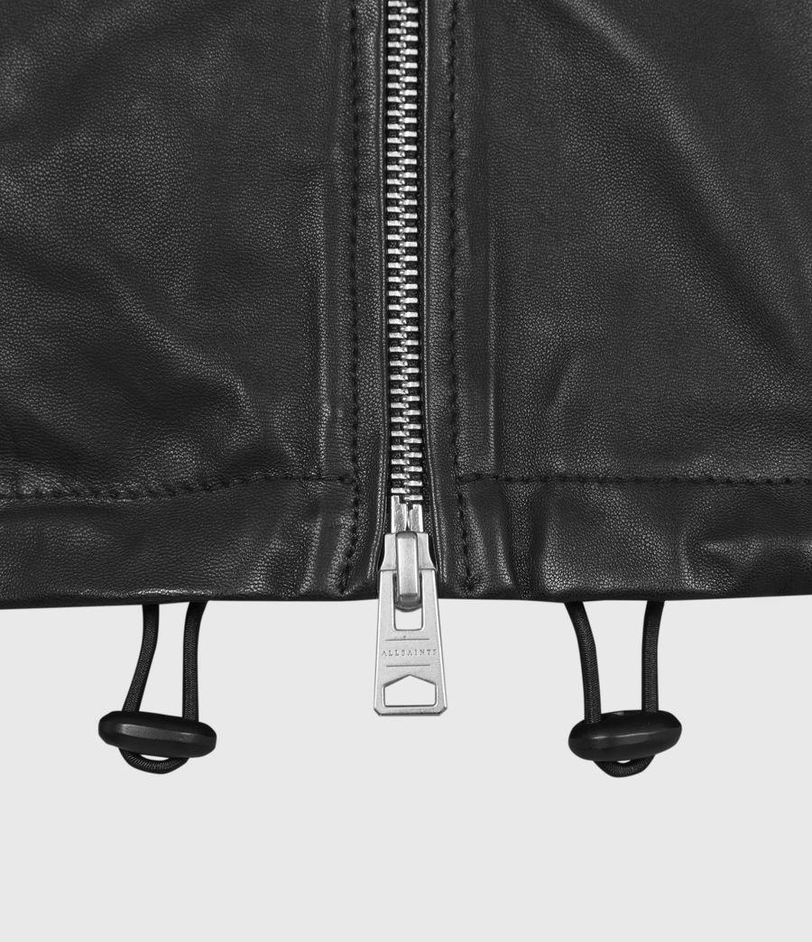 Damen Della Leather Bomber Jacket (black) - Image 6