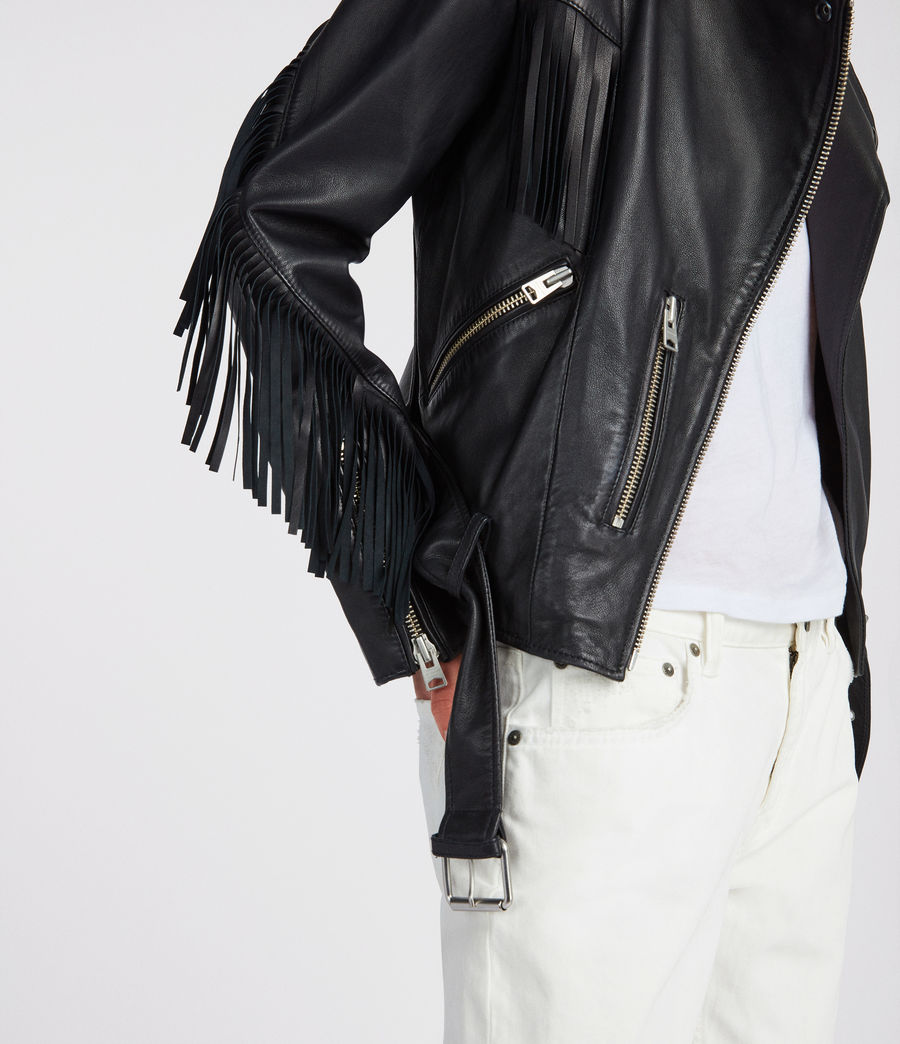 Mujer Cazadora biker Balfern Tassel (black) - Image 4