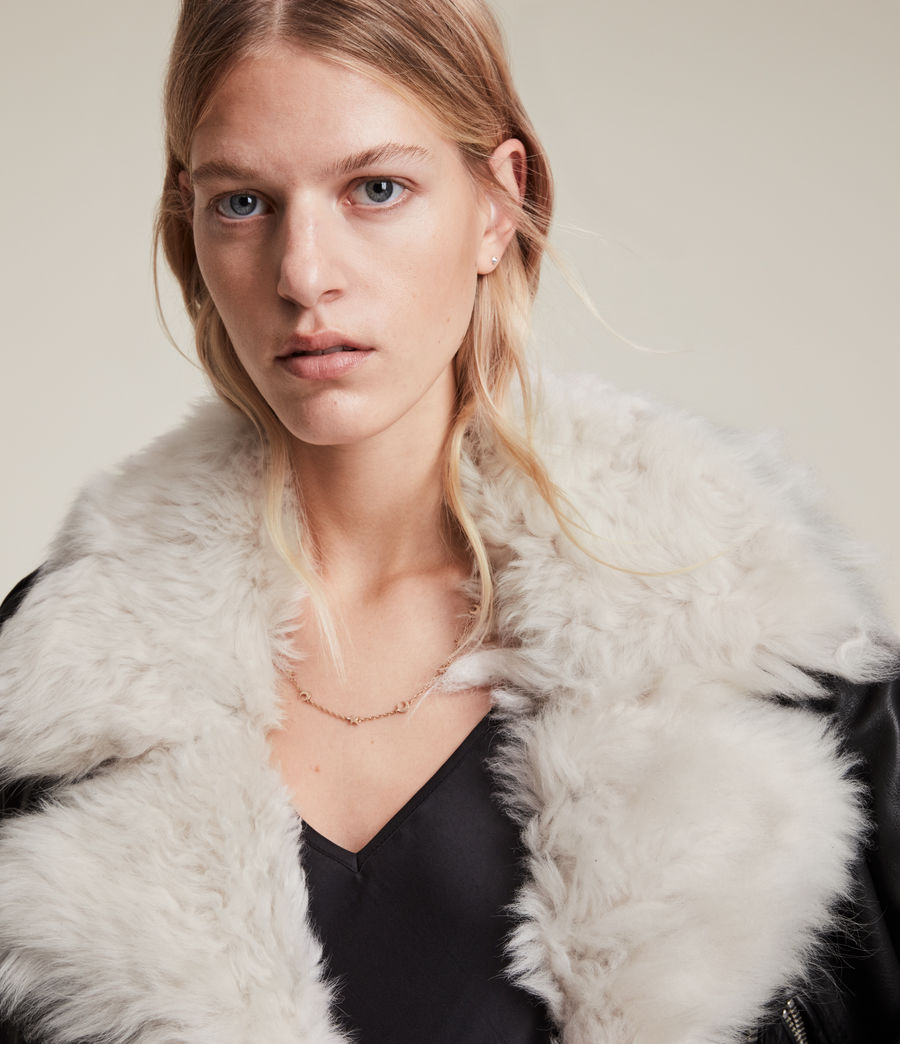 Damen Luna 4-in-1 Shearling Biker Jacket (black_natural) - Image 2