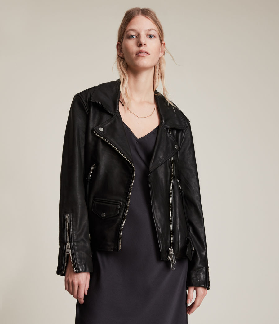 Damen Luna 4-in-1 Shearling Biker Jacket (black_natural) - Image 6