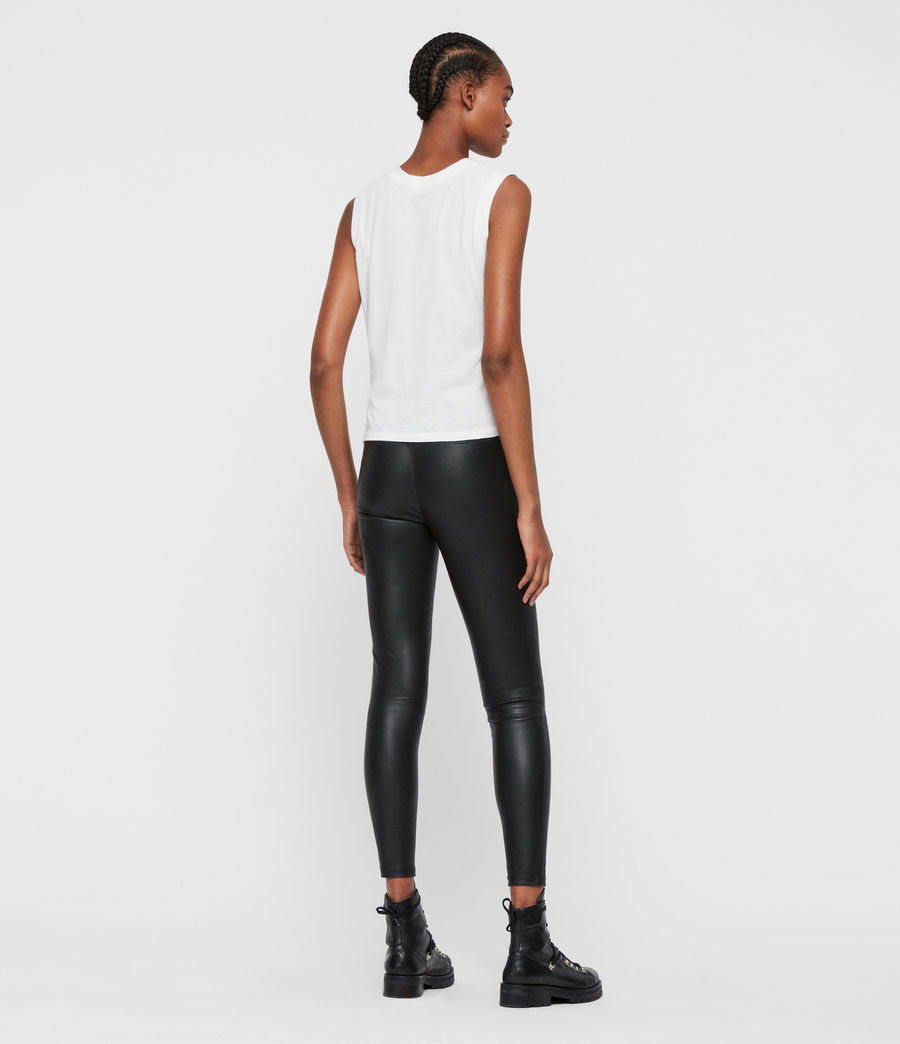 Women's Cora High-Rise Leather Leggings (black) - Image 6