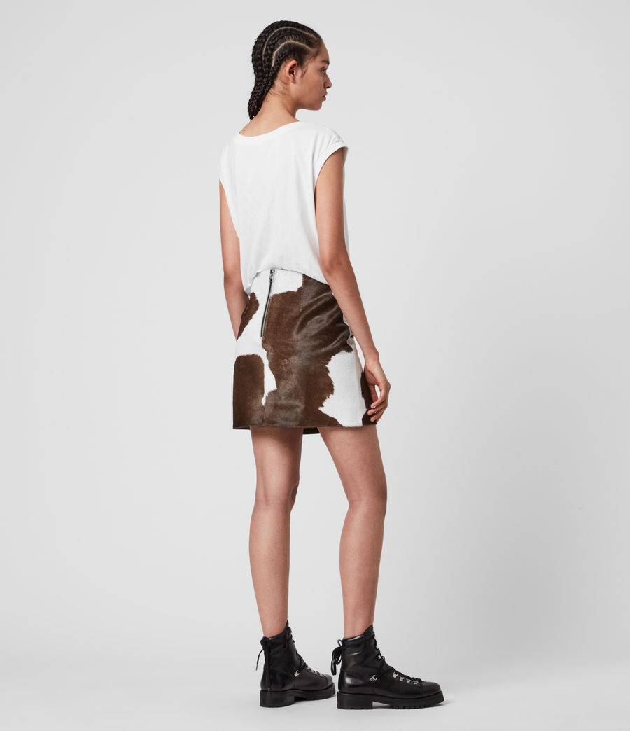 Womens Ko Leather Skirt (brown) - Image 6