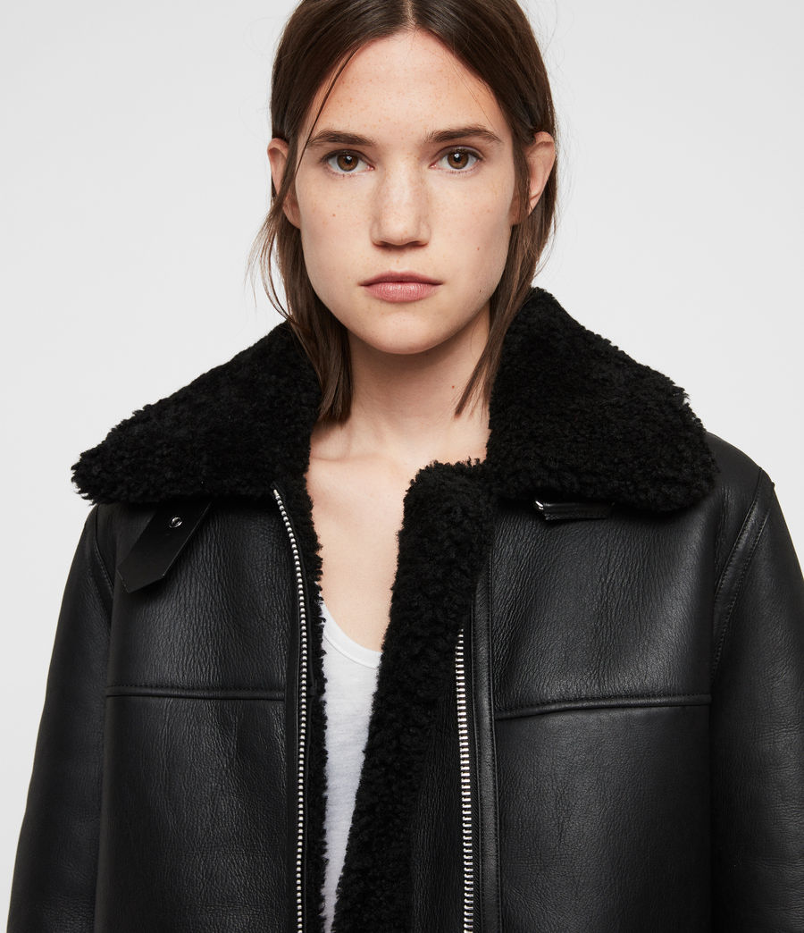 Donne Giacca Shearling Java (black) - Image 2
