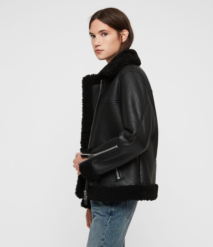 Donne Giacca Shearling Java (black) - Image 4