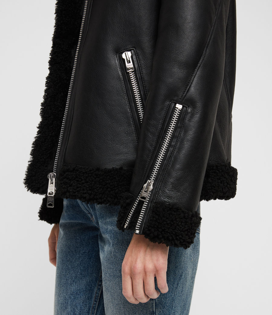 Donne Giacca Shearling Java (black) - Image 5