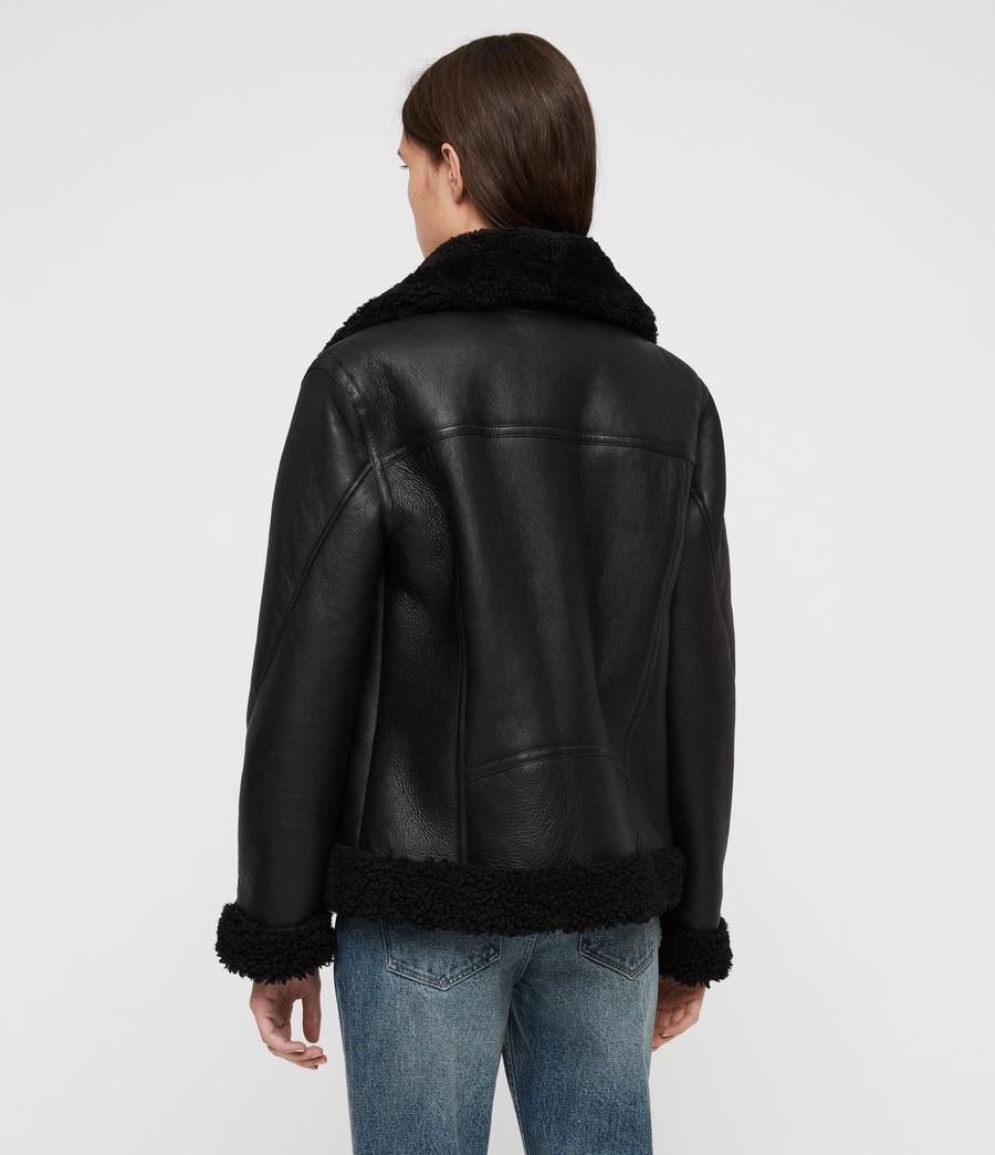 Womens Jaya Shearling Jacket (black) - Image 6
