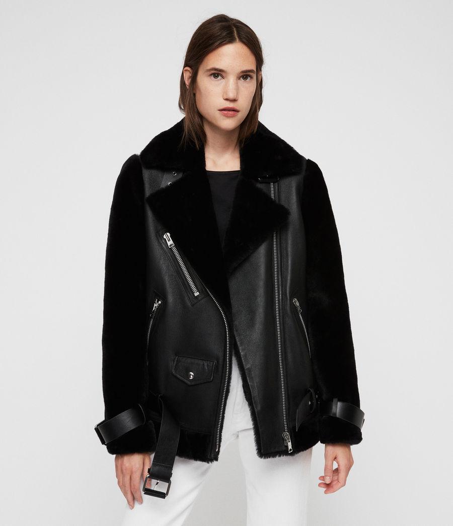 Womens Alto Shearling Jacket (black) - Image 1