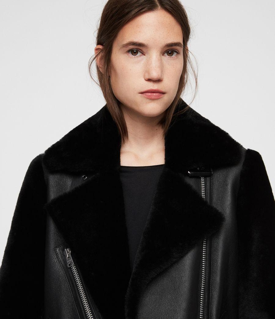 Womens Alto Shearling Jacket (black) - Image 2