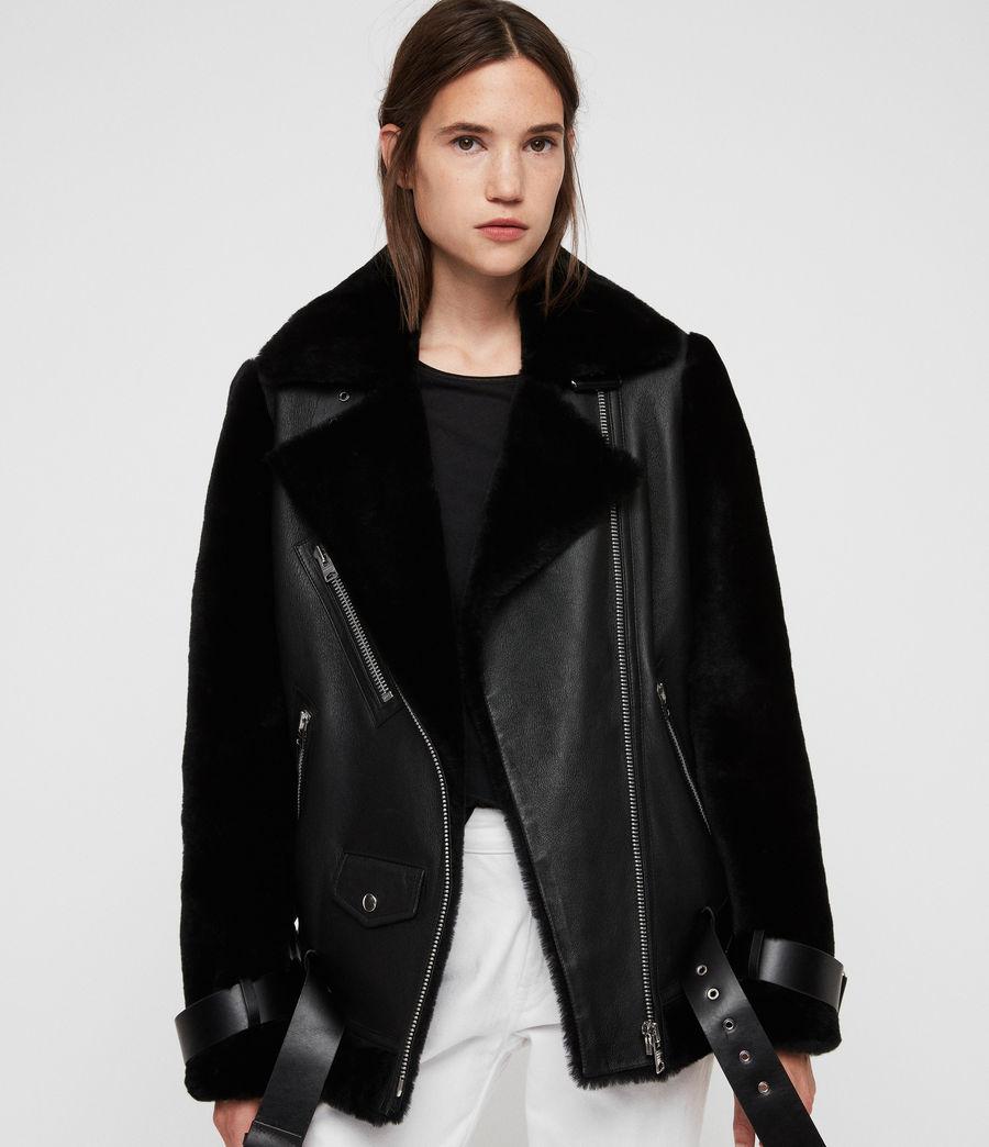Womens Alto Shearling Jacket (black) - Image 5