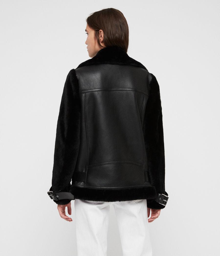 Womens Alto Shearling Jacket (black) - Image 6