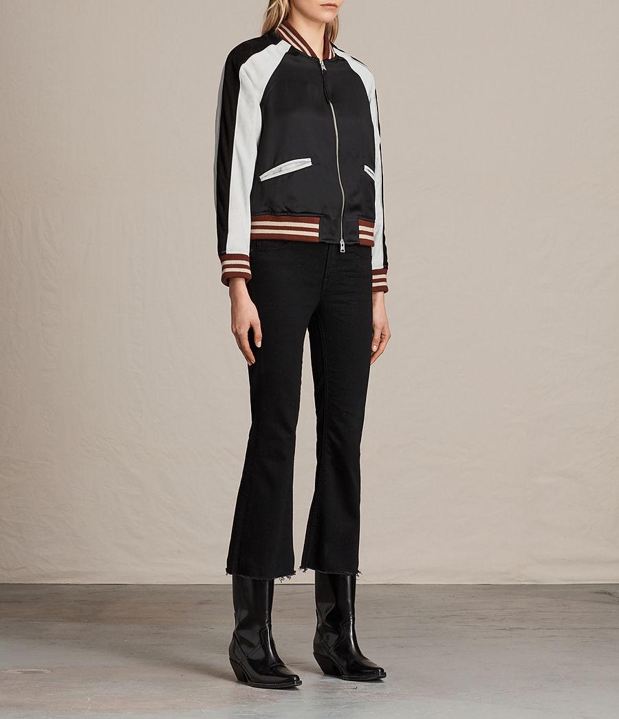 Womens Atley Bomber Jacket (black_oyster_white) - Image 4