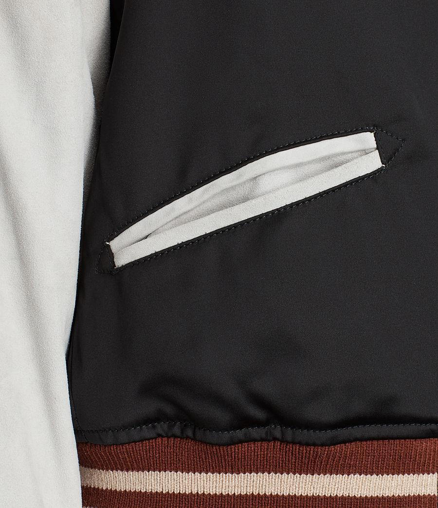 Womens Atley Bomber Jacket (black_oyster_white) - Image 5